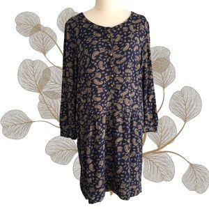 ELEMENT Boho Gypsy Long Sleeve Paisley Dress